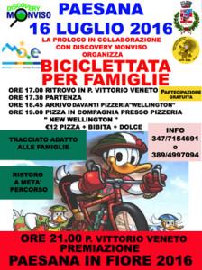 biciclettata per famiglie Paesana 16 luglio