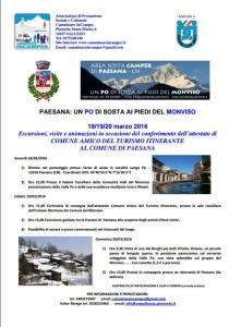 Paesana Comune amico del turismo itinerante, 18-20 marzo