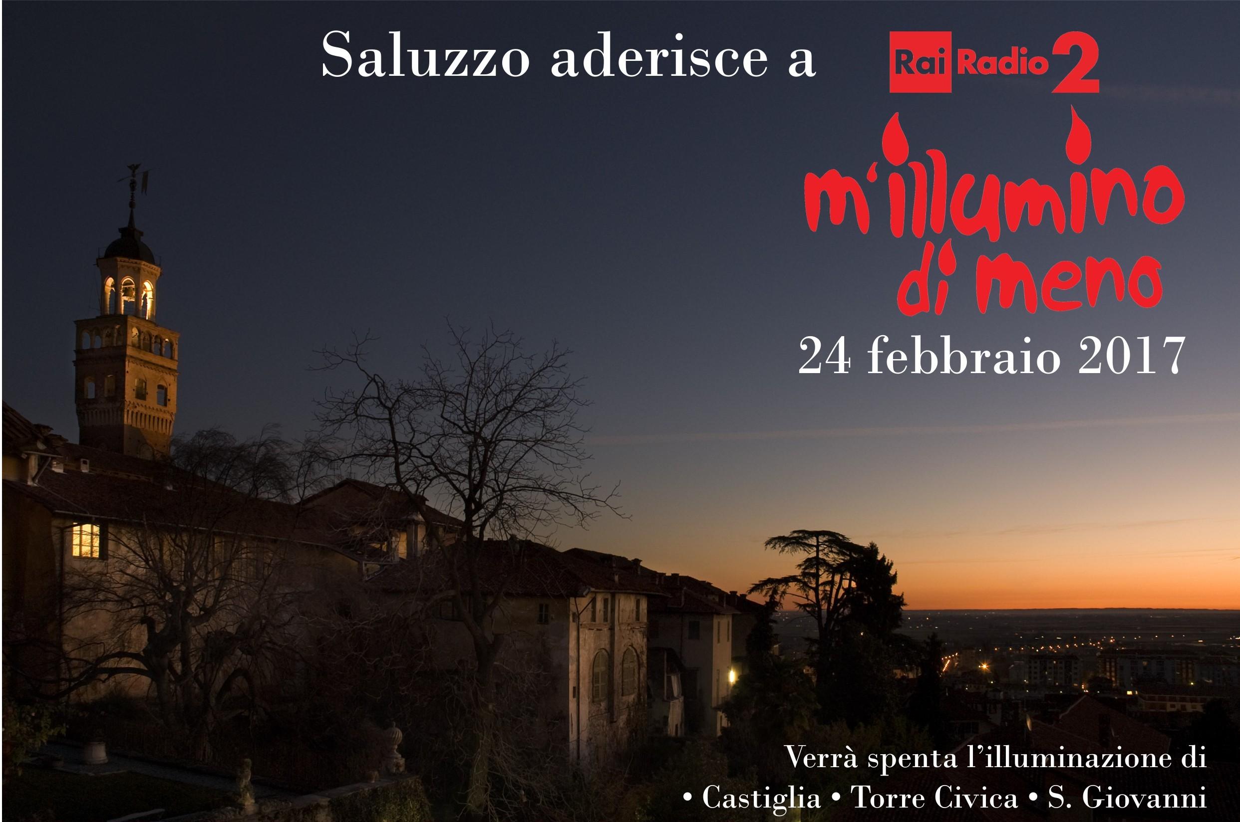 """Saluzzo aderisce a """"M'illumino di meno"""" 2017"""