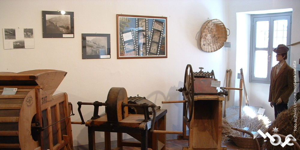 sala del museo etnografico di Sampeyre