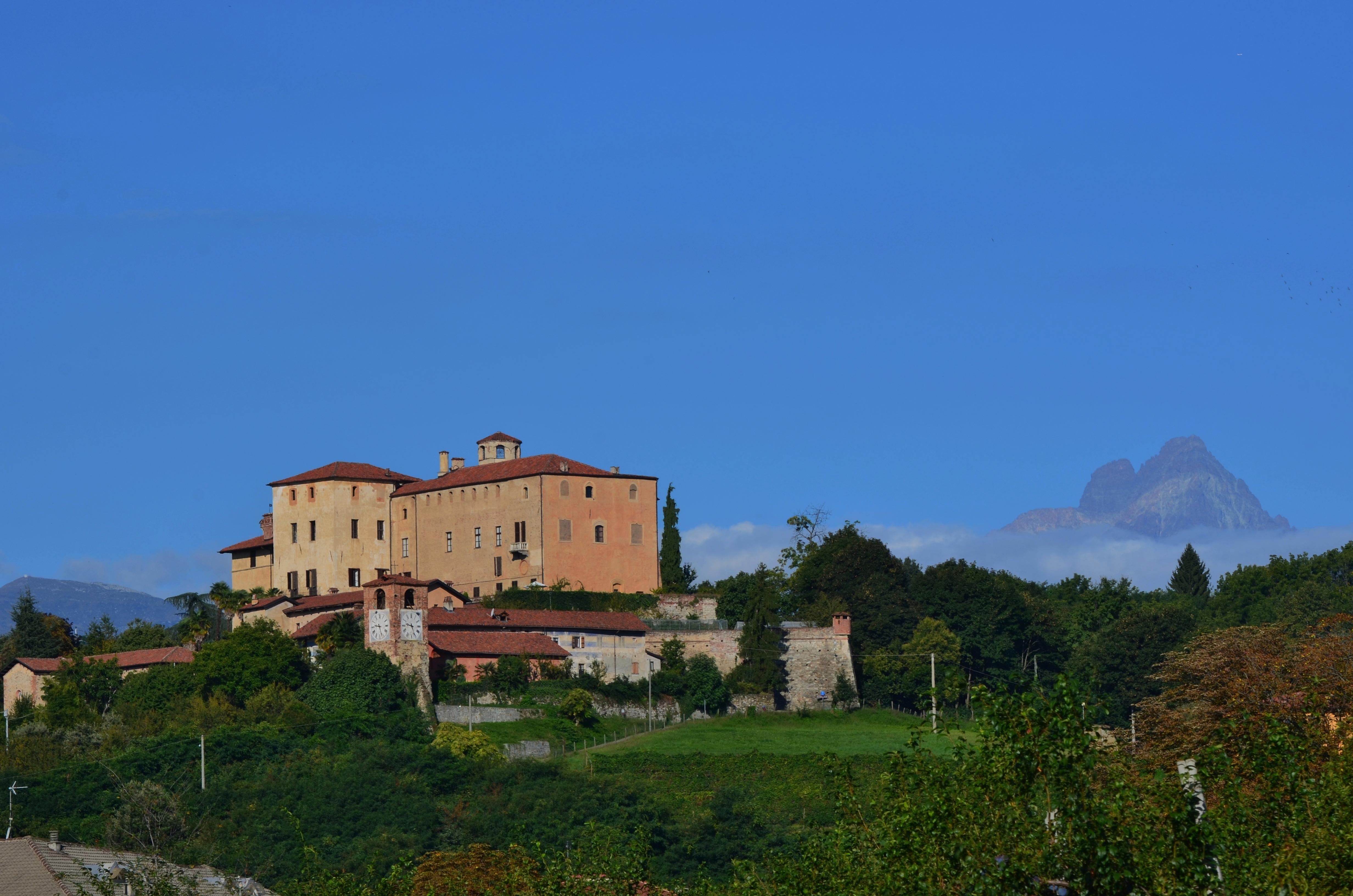 castello manta con Monviso