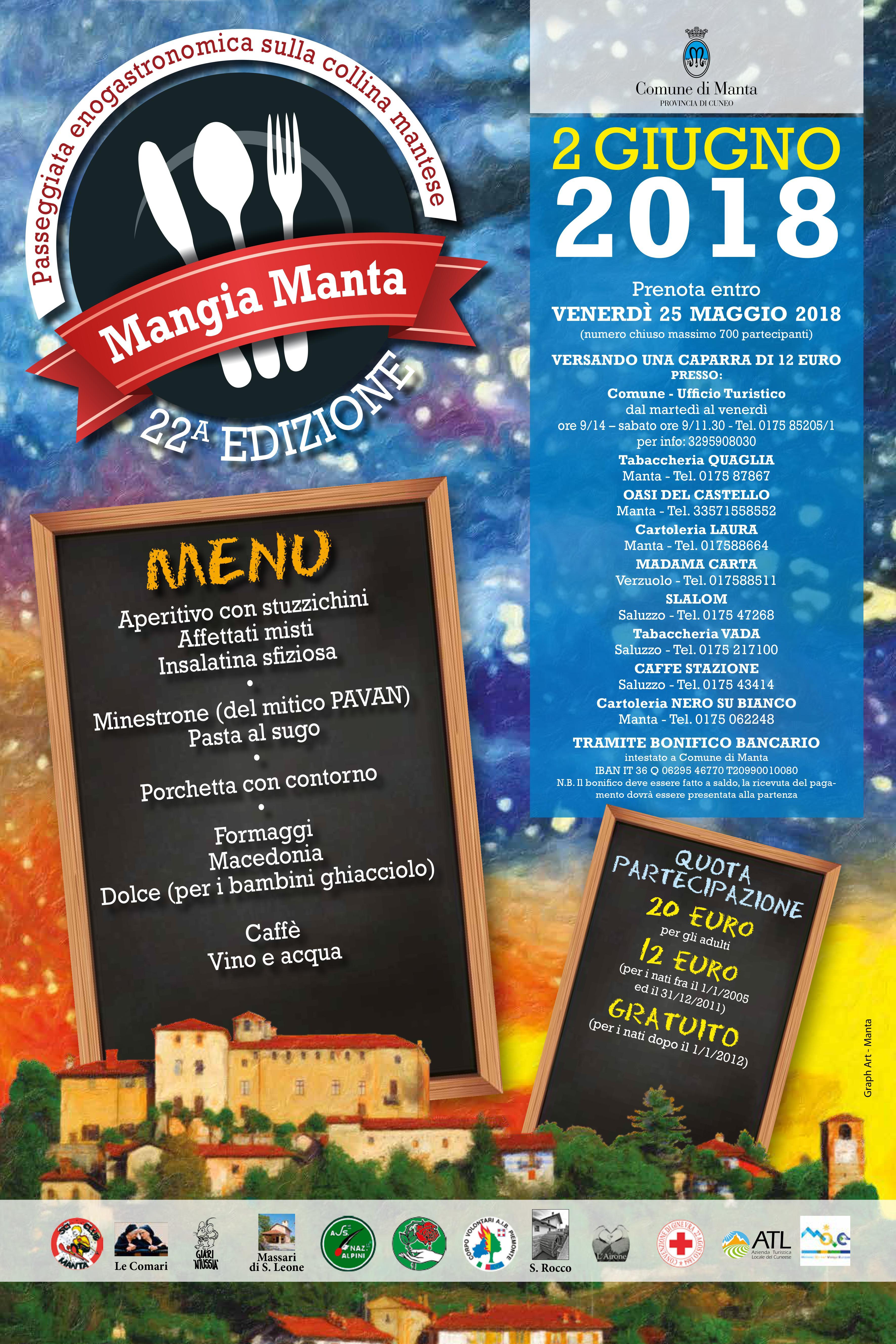 locandina Mangia Manta 2018 mail