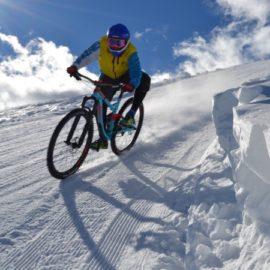 pian muné mtb sulla neve